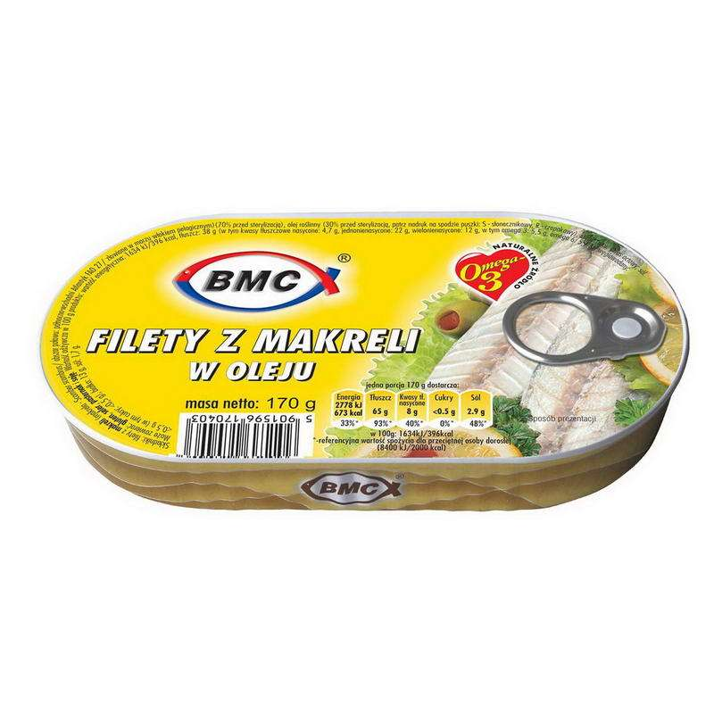 BMC Filet z makreli w oleju 170g/16/