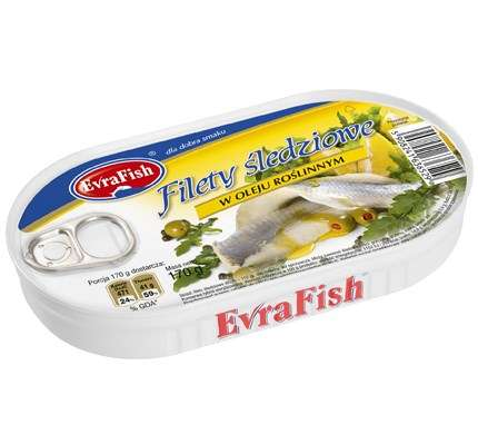 Evra Fish Filet śledz. w ol.170g/16/